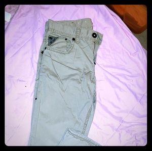 Silver tan pants